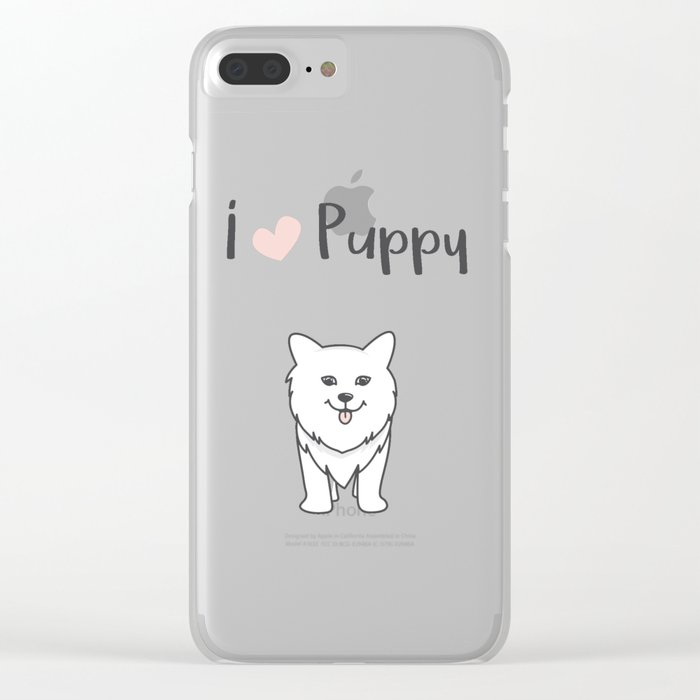 I love puppy Clear iPhone Case