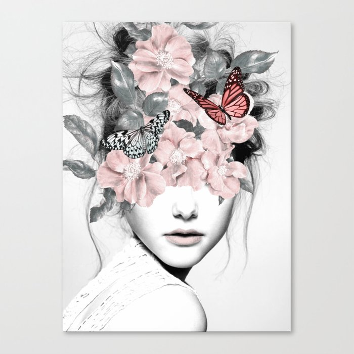 WOMAN WITH FLOWERS 10 Canvas Print