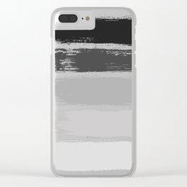 Black & White Stripes Clear iPhone Case