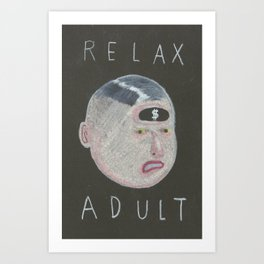 relax adult Art Print