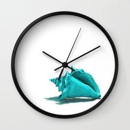 Aura the Seashell - illustration Wall Clock