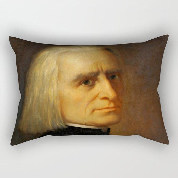 Franz Liszt (1811-1886) by Carl Ehrenberg in 1868 Rectangular Pillow