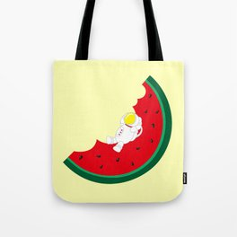 Space Odyssey | Astronaut Watermelon | Fruit | Summer | Watermelon Moon | pulp of wood Tote Bag