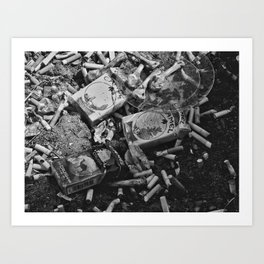 Cigarettes & Chicken Art Print