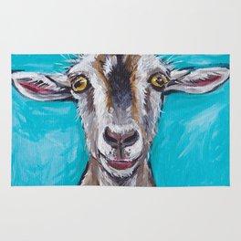 Goat Art, Colorful Farm Animal Rug