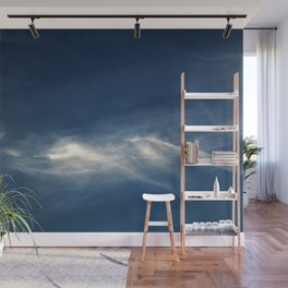 White mountains in the sky Wall Mural