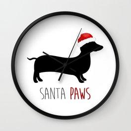 Santa Paws Wall Clock