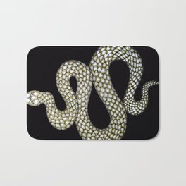 Snake's Charm in Black Bath Mat