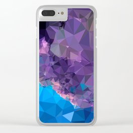 Geometric Galaxy Low Poly 1 Clear iPhone Case