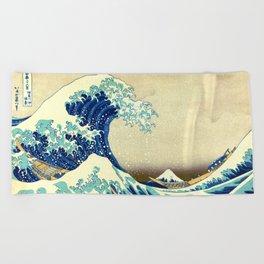 The Great Wave Off Kanagawa Katsushika Hokusai Beach Towel