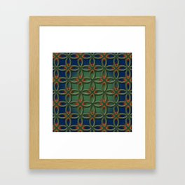 Soft rings Framed Art Print
