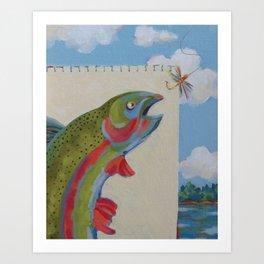 Fish Hooked Art Print