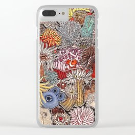Clown fish and Sea anemones Clear iPhone Case