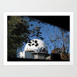 Berlin, Teufelsberg, Radar, Cold war, Army, NSA, ECHELON Art Print