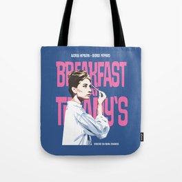 Breakfast at Tiffany's Movie Poster Tote Bag