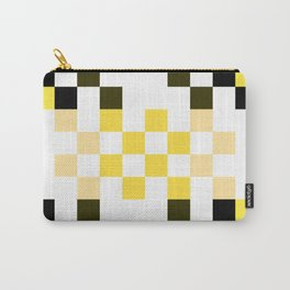 Yellow Pixel Carry-All Pouch