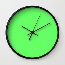 Screamin' Green - solid color Wall Clock