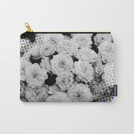 Halftone Flowers Carry-All Pouch