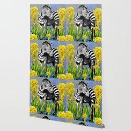 ZEBRA YELLOW ORCHIDS TROPICAL BLOOM Wallpaper