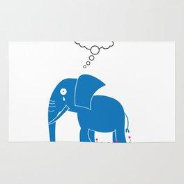 Sad Elephant Rug