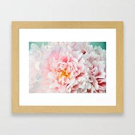 Peony Flower Photography, Pink Peony Floral Art Print Nursery Decor A happy life - Peonies 2 Framed Art Print