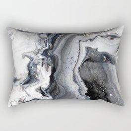 Marble B/W/G Rectangular Pillow
