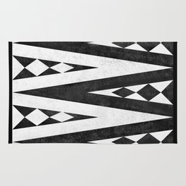 Tribal pattern in black and white. Rug