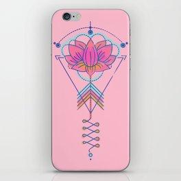 Sacred Lotus Symbol:  Pink & Turquoise geometric iPhone Skin