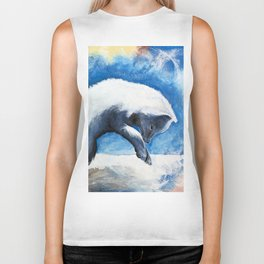 Animal - Antoine the Artic Fox - by LiliFlore Biker Tank