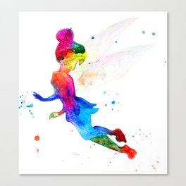 Tinker Bell, colorful Canvas Print