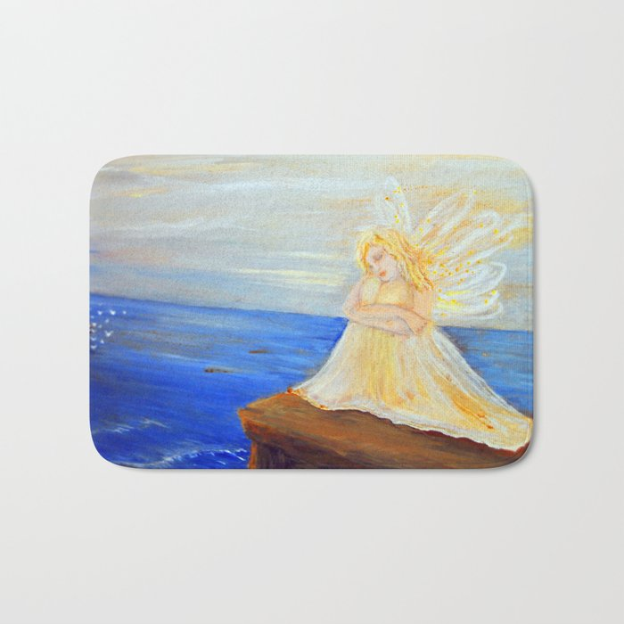 Invite your Angel   Angels are here Bath Mat