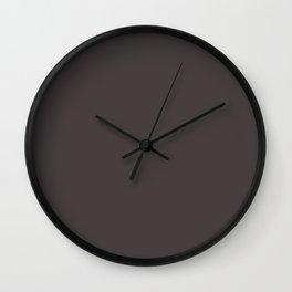 Solid Dark Black Eel Color Wall Clock