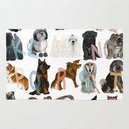 Dog Alphabet Rug