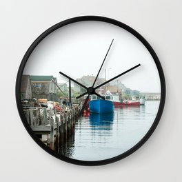 Peggy's Cove fishing village. Wall Clock