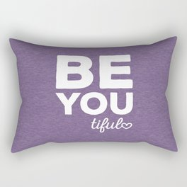 Be-You-Tiful Positive Quote Rectangular Pillow