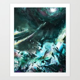 Bursting into Dream Realm Art Print