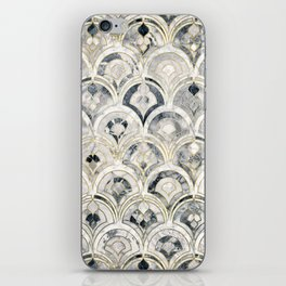 Monochrome Art Deco Marble Tiles iPhone Skin