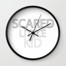 Scared Little Kid Wall Clock
