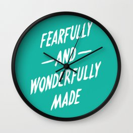 Fearfully and Wonderfully Made Wall Clock