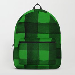 Buffalo Plaid Watercolor in Green Backpack