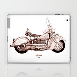 1940 Indian 440 Motorcycle Drawing Laptop & iPad Skin