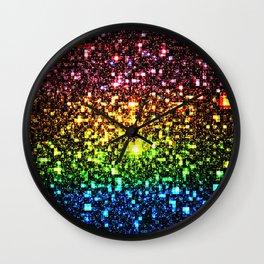 Geometric Galaxy Stars : Rainbow Wall Clock