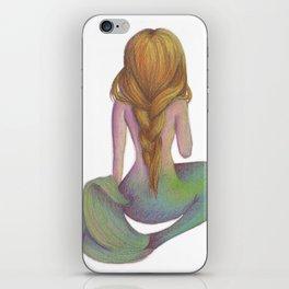 Yellow Haired Mermaid iPhone Skin