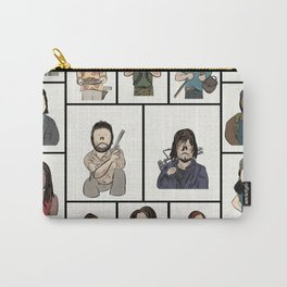 The Walking Dead 16 Character Collage Carry-All Pouch