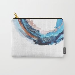 Galaxies Collide: a minimal, abstract watercolor in blues and pink by Alyssa Hamilton Art Carry-All Pouch