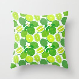 Lime Harvest Throw Pillow