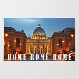 SAINT PETER'S CATHEDRALE in ROME Rug