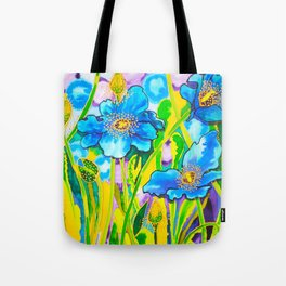 Blue Poppies 2 Tote Bag