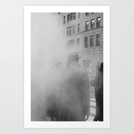 steamy nyc (3 of 4) Art Print