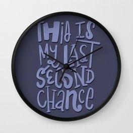 Last Second Chance Wall Clock